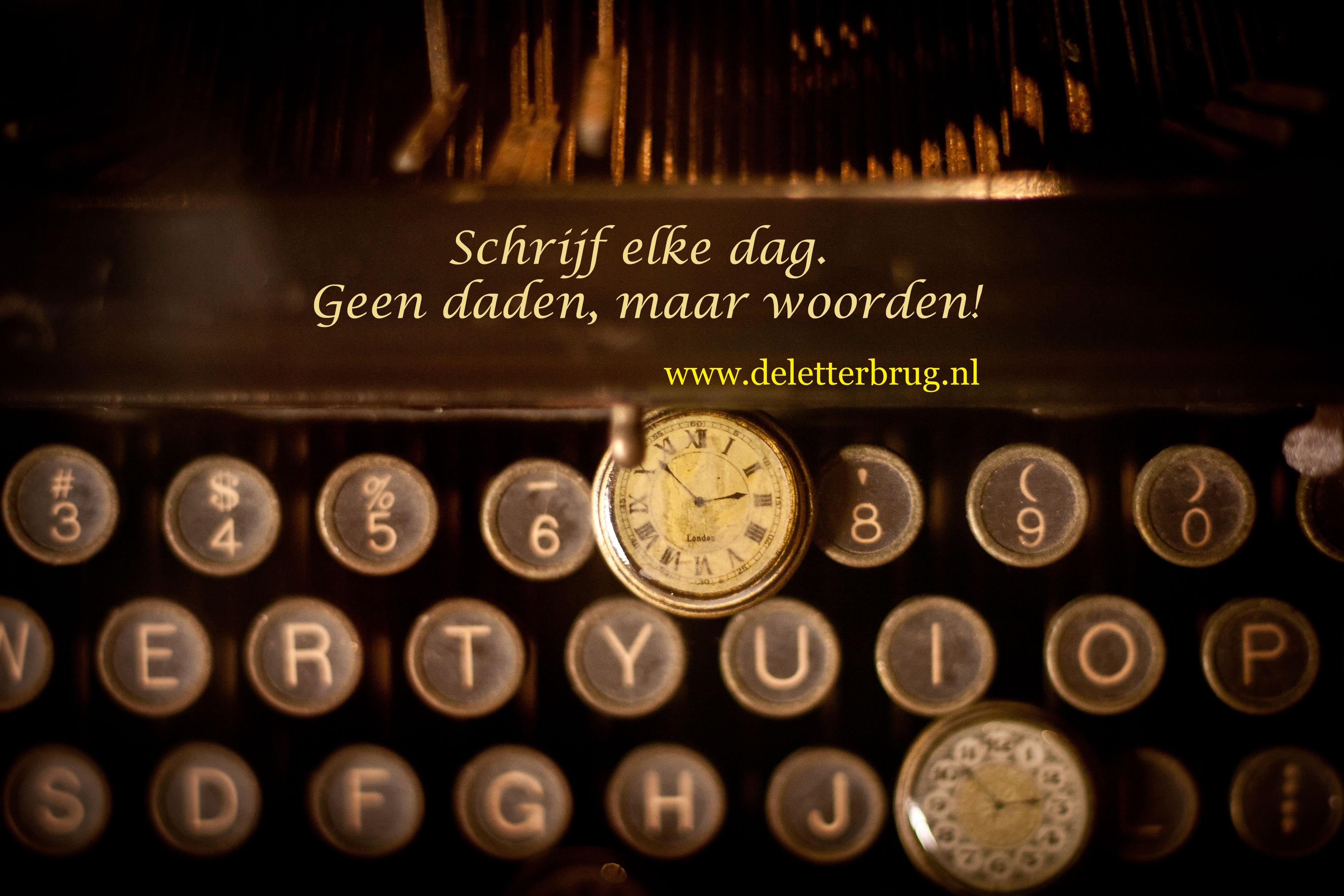 Schrijftips Tekstbureau De Letterbrug, schrijf elke dag