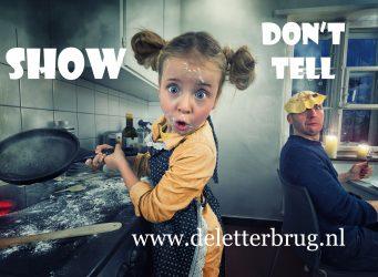 Schrijftips De Letterbrug show don't tell
