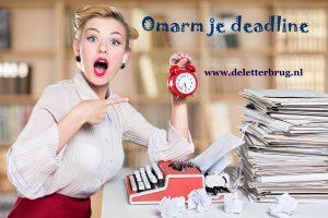 Schrijftips Tekstbureau De Letterbrug, deadlines