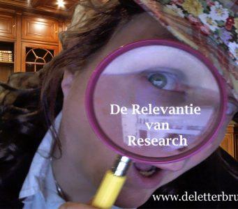 De relevantie van research, De Letterbrug schrijftips NaNoWriMo